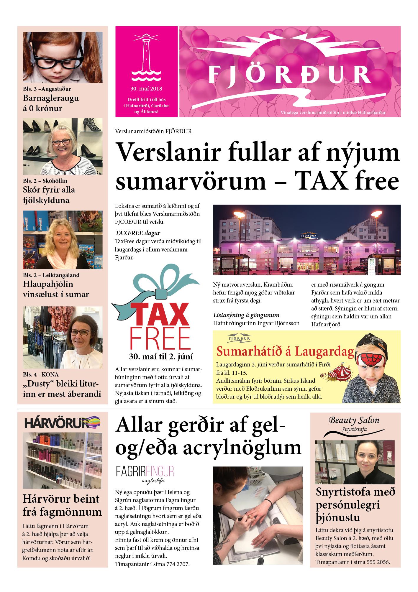 TAXFREE dagar í Firði – 30. maí til 2. júní