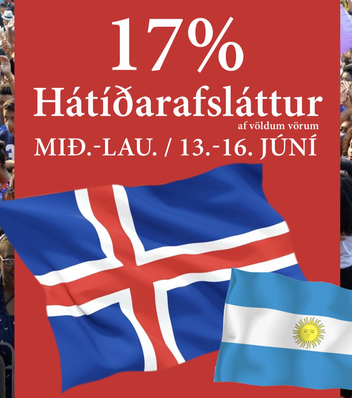 17% hátíðarafsláttur af völdum vörum