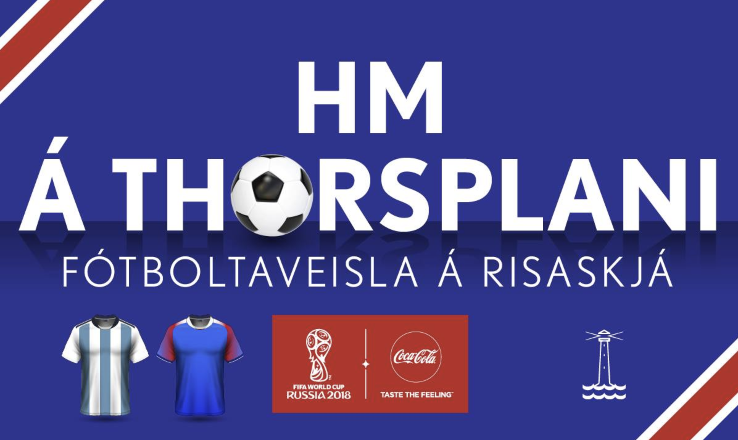 Ísland gegn Argentínu í beinni á Thorsplani